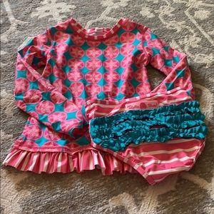 Good used condition ruffle butt bathing suit